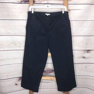 Eileen Fisher Cropped Capri Pants Navy Medium